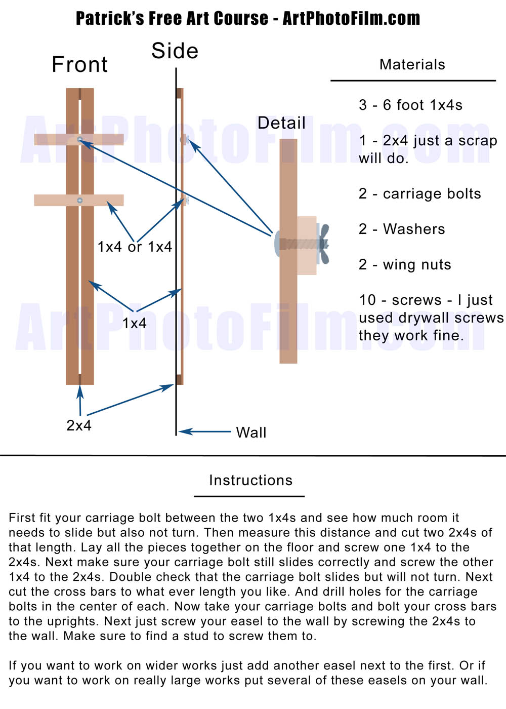 Woodwork build artist easel plans plans pdf download free for Web design blueprints