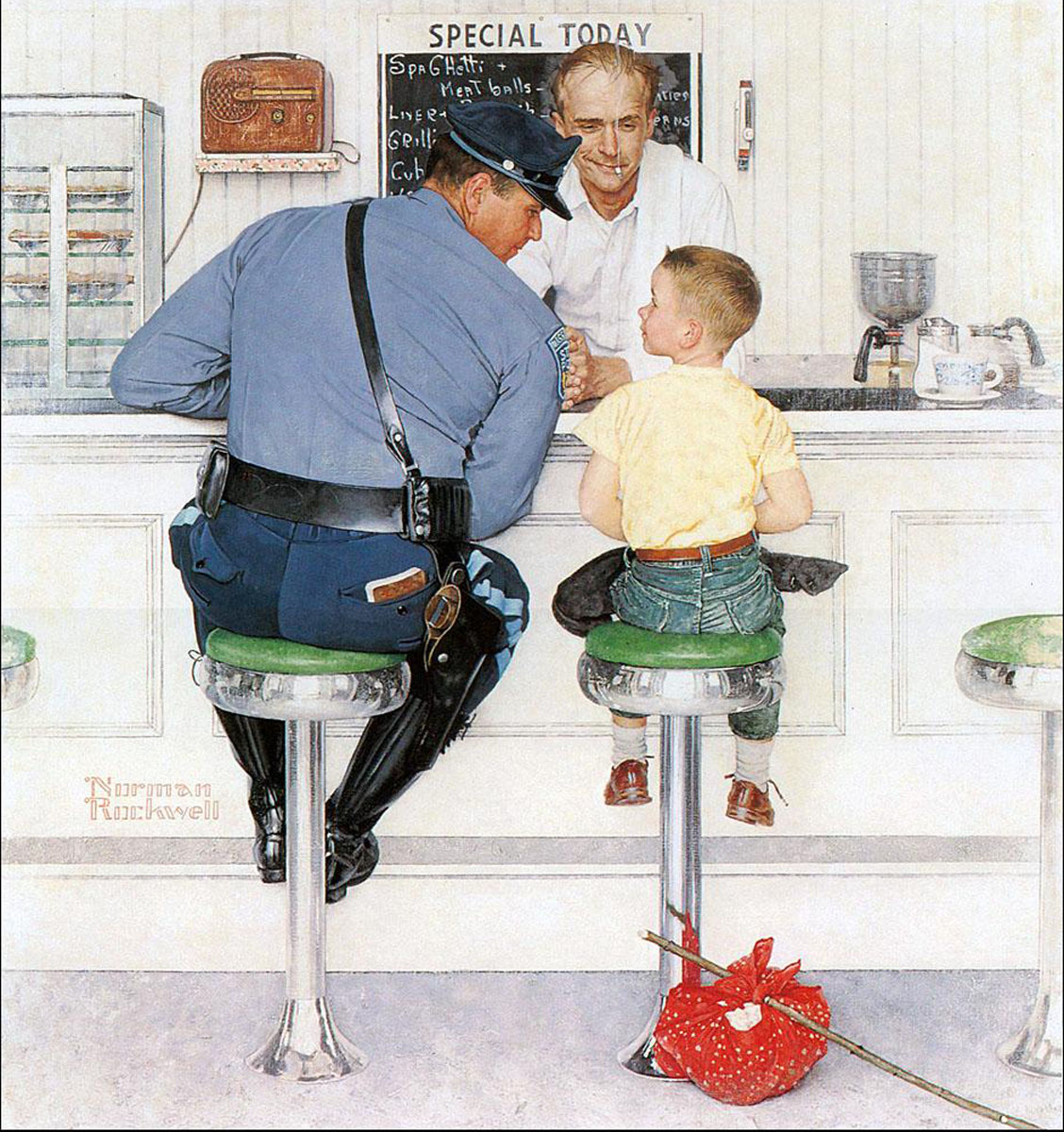 Art Of The Day – The Runaway by Norman Rockwell | Patrick's Art Blog