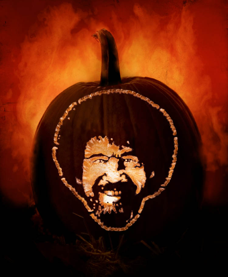 bob ross pumpkin finished